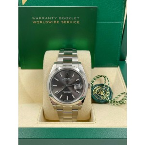 Rolex 126300  Datejust 41 Slate Dial Stainless Steel Box Booklets