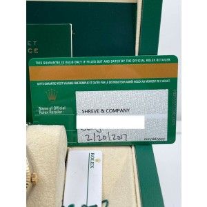 Rolex Ladies 279173 Datejust 28mm Green Diamond Dial 18K Yellow Gold Steel
