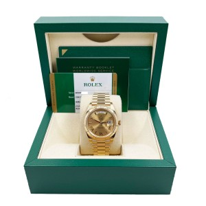 Rolex 228238 President Day Date 40mm Champagne 18K Yellow Gold Box Papers 2019