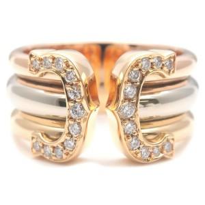 Authentic Cartier 2C Diamond Ring