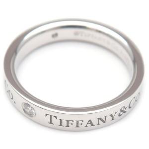 Authentic Tiffany&Co. Flat Band 3P Diamond Ring
