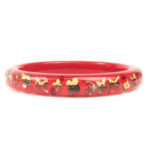 Authentic Louis Vuitton Bracelet Inclusion TPM Bangle Red