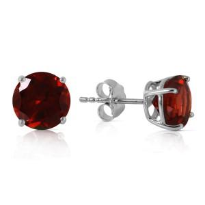 3.1 CTW 14K Solid White Gold Entre Nous Garnet Earrings