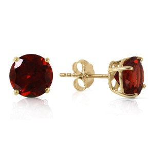 3.1 CTW 14K Solid Gold Dream Your Heart Garnet Earrings