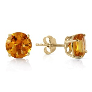 3.1 CTW 14K Solid Gold I Saw The Sun Citrine Earrings