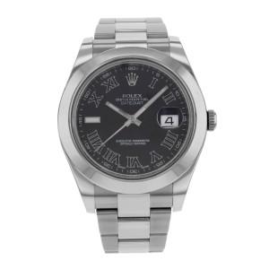 Rolex Datejust II 116300 BKRIO 41mm Mens Watch