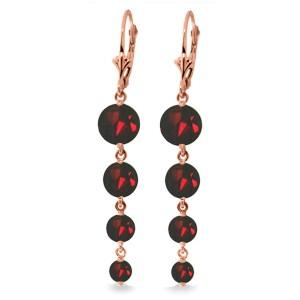 7.8 CTW 14K Solid Rose Gold Chandelier Earrings Natural Garnet