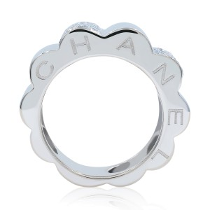 Chanel 18K White Gold 0.50ctw Diamond Ring Size 6.75