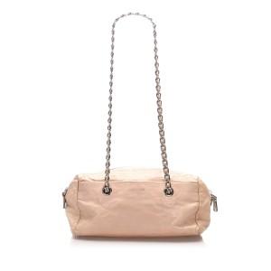 Chain Leather Shoulder Bag