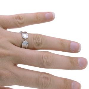 Cartier C De Cartier 18K White Gold Ring Size 6.5