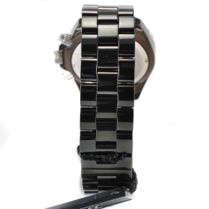 TechnoMania TechBlacker Diamond Stainless Steel Case Ceramic Bracelet Mens Watch
