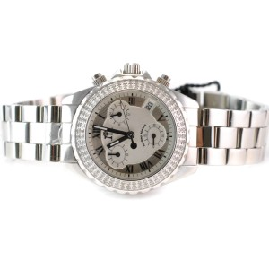 TechnoMania Tech 01026 Diamond Grey Dial Stainless Steel Women's Watch