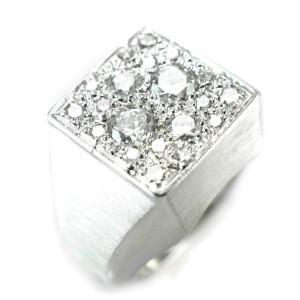 14K White Gold 1.15ct Diamond Ring