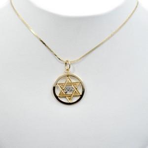 David Tzion 14K Two-Tone Gold Star Pendant