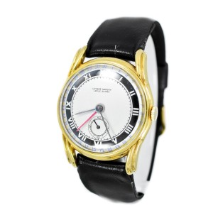 Ulysse Nardine 9336 Vintage 14K Gold Plated  Men's Watch