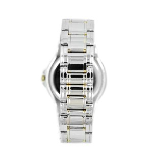 Movado 81 E2 866 Stainless Steel Two-Tone Black Dial Men's Watch