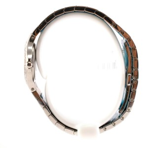 Movado model 84 A1 1831 Stainless Steel Bracelet and Diamond Bezel Ladies