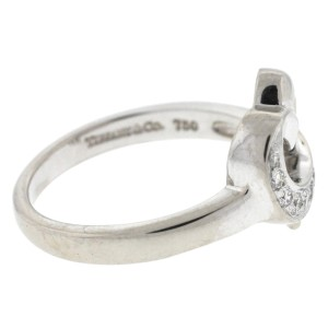 Tiffany & Co. 18K White Gold Diamond Ring Size 7.5