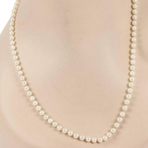 Mikimoto 18K Yellow Gold & Pearl Clasp Strand Necklace