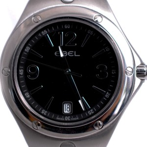 Ebel 9955K41 Sports Wave Black Dial Stainless Steel Date Men's Watch