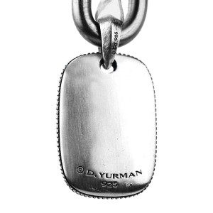 David Yurman 925 Sterling Silver Sky Tablet Pendant