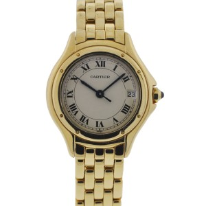 Cartier Cougar Ladies 18K Yellow Gold Quartz Watch