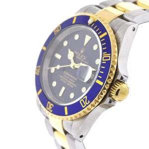 """Rolex 16613 Submariner 40mm 18K Yellow Gold Stainless Steel """"Y"""" Serial Watch"""