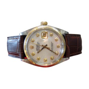 Rolex Oyster Perpetual Datejust Diamond Dial Watch