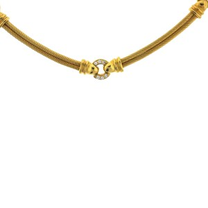 Philippe Charriol 18K Yellow Gold Diamond Cable Necklace