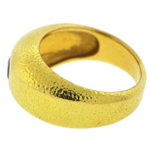 Tiffany & Co. Schlumberger 18K Yellow Gold Sapphire Men's Ring