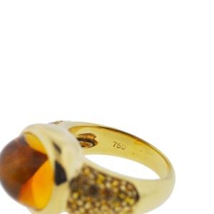 Roberto Coin 18K Yellow Gold Orange Center Stone Ladies Ring