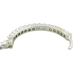 Roberto Coin 18k White Gold Diamond Hoop Earrings