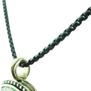 David Yurman Sterling Silver Moonlight Ice Albion Prasiolite Necklace