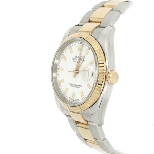 Rolex 116233 Datejust Champagne Index Dial 18K Stainless Steel Saint Blanc Men's Watch