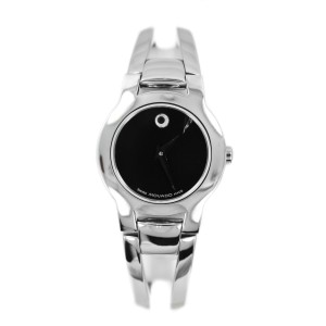 Movado 84E41842 Stainless Steel Black Dial Women's Watch