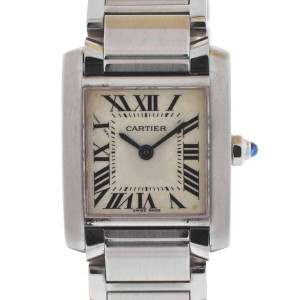 Cartier Tank Francaise 2384 Stainless Steel Ladies Watch
