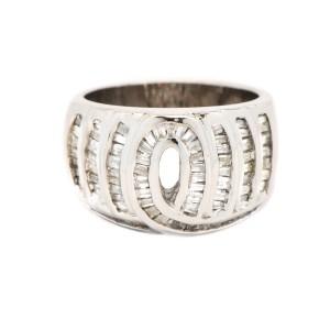 14K White Gold 1.20 ct. Baguette Diamond Ring