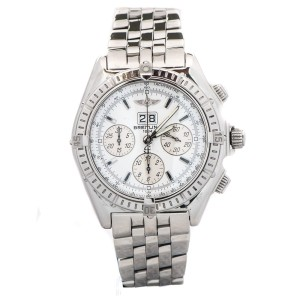 Breitling Crosswind A44355 Windrider Stainless Steel Automatic Mens Watch