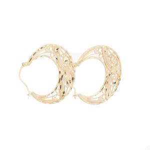 Michael Anthony 14K Yellow Gold Hoop Byzantine Earrings
