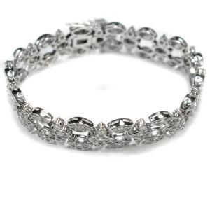 White White Gold Diamond Womens Bracelet