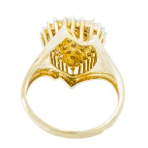 Yellow Gold Diamond Womens Ring Size 6.5