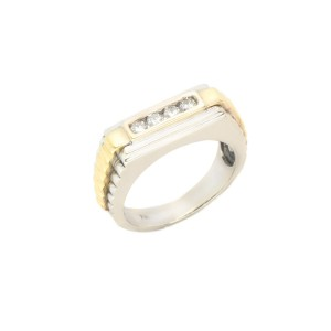 White Yellow Gold Womens Ring Size 9