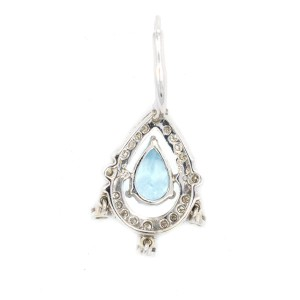 White White Gold Diamond, Topaz Mens Earrings