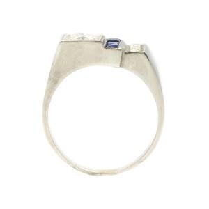 White White Gold Emerald Womens Ring Size 7.25