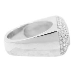 White White Gold Diamond Womens Ring Size 6.75