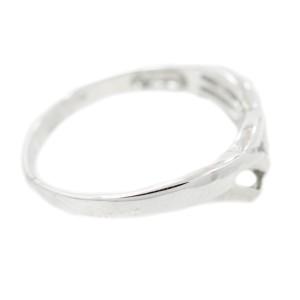 White White Gold Mens Ring Size 7.5