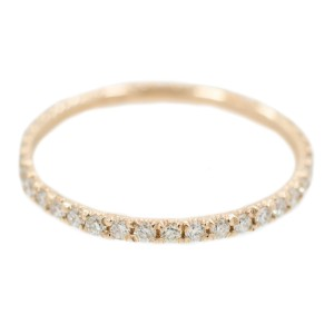 Rose Gold Diamond Womens Ring Size 6