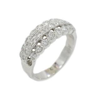 White White Gold Diamond Mens Ring Size 5.5