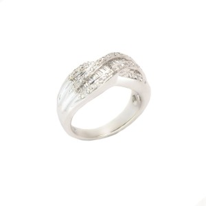 White White Gold Womens Wedding Ring Size 7