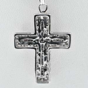 Diamond Cross 1CT 14K White Gold 4.5gr Princess Diamond in a middle .04CT